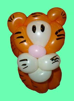 Ballonkuenstler Ballontiere Tiger