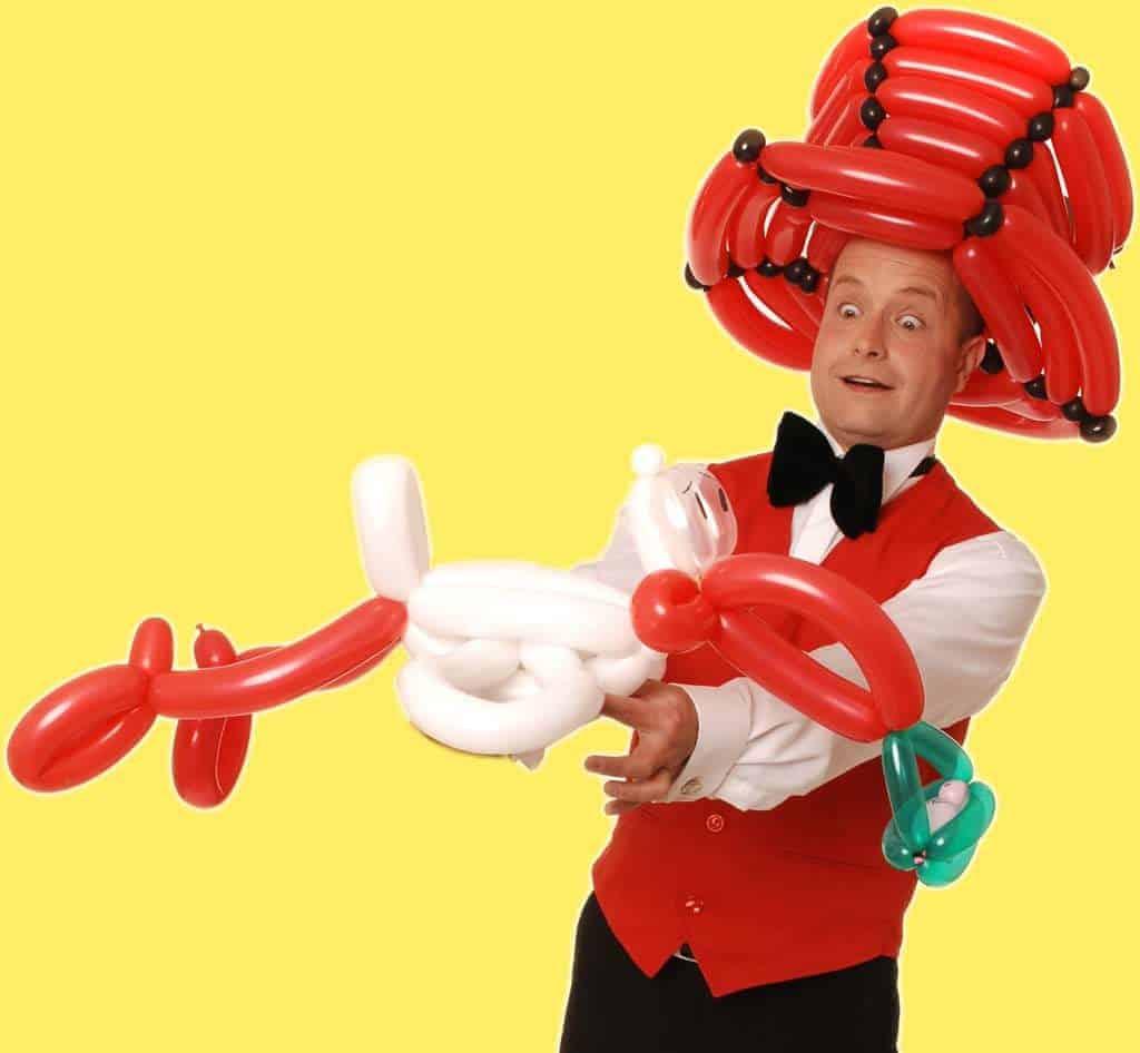 Ballonkünstler Storch für Hochzeit oder Hochzeitsfeier