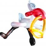Luftballonfiguren-Storch